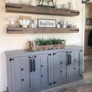 DIY Modern Farmhouse Cabinet Shanty2Chic