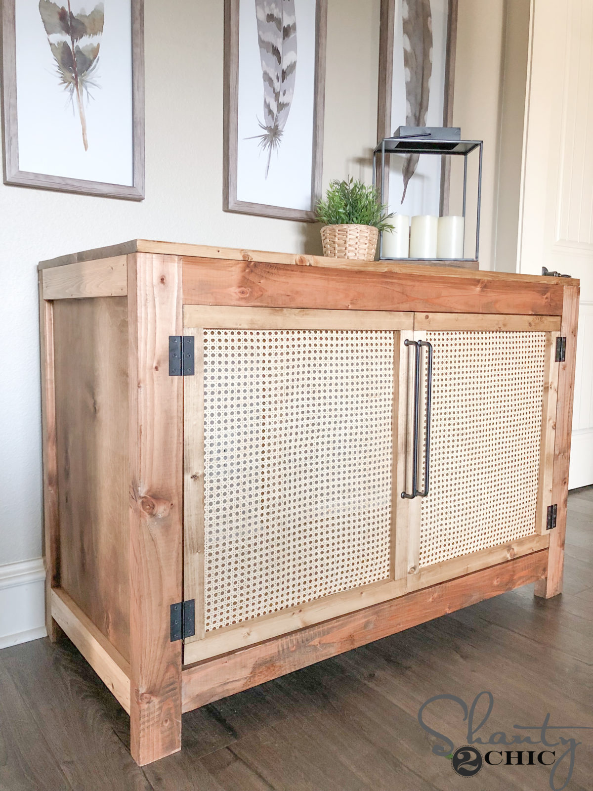 Diy Cane Cabinet How To Build With Free Plans Shanty 2 Chic