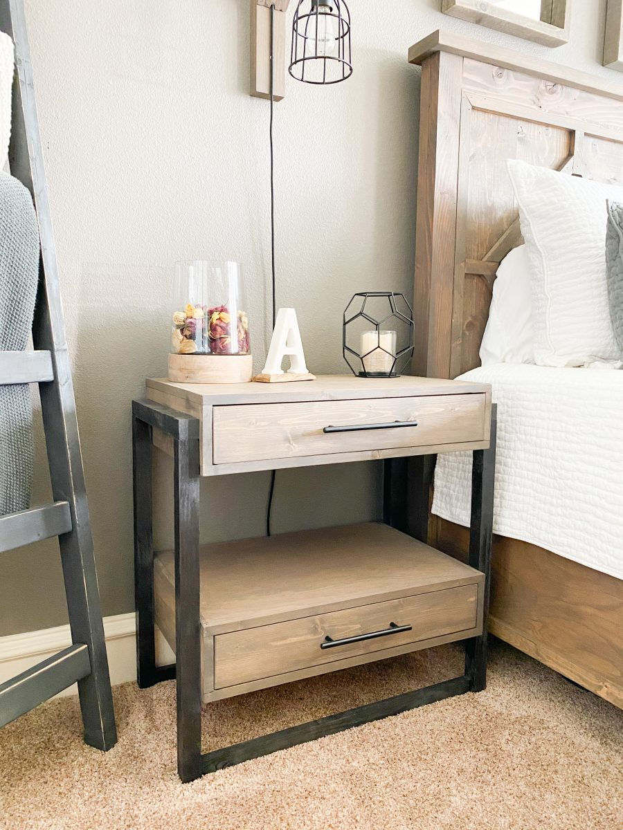 DIY Nightstand with Drawers - Shanty 8 Chic