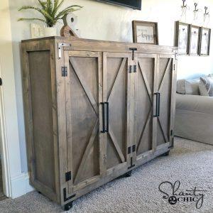 DIY Farmhouse X Cabinet