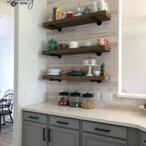 DIY Floating Pipe Shelves by Shanty2Chic