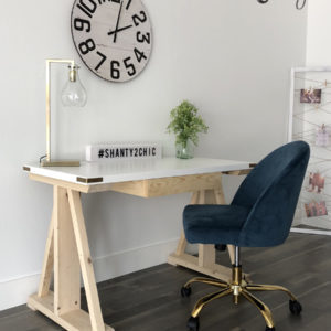 DIY Rustic Modern Writing Desk
